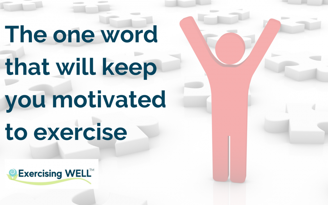 The one word that will keep you motivated to exercise